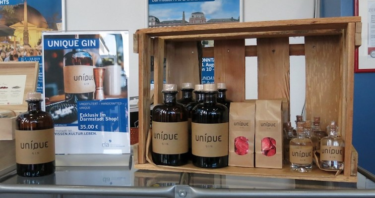 UNIQUE Gin im Darmstadt Shop