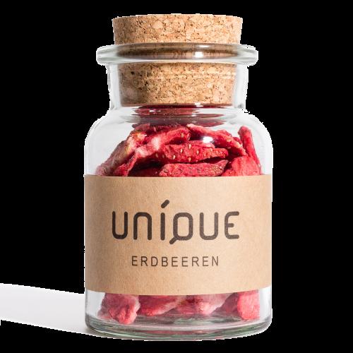 UNIQUE Gin Erdbeeren gefriergetrocknet Gin Botanicals